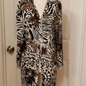 Additions by Chico's Tribal Animal Print Cardigan